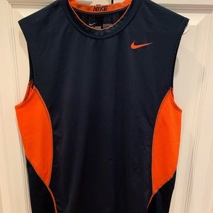 Nike pro combat fitted shirt large